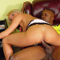 Nice ass blonde Spring Thomas takes a big black rod